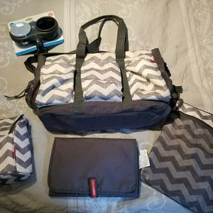 Skip hop duo double diaper tote with extras!!
